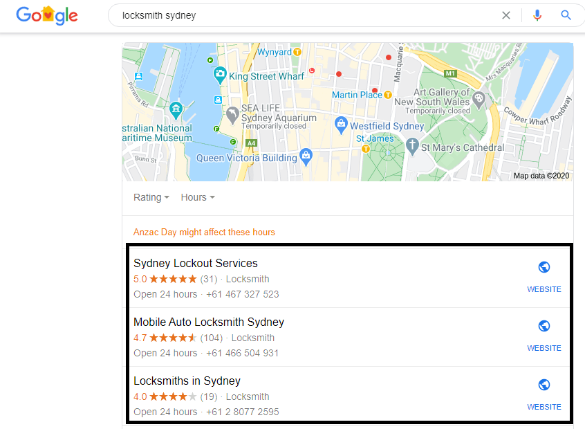 Google My Business Listing Appear