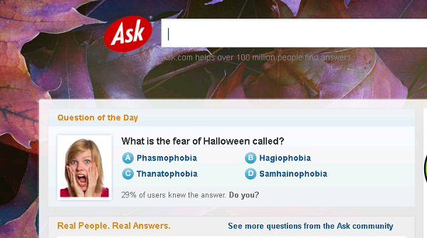 Ask Halloween 2012 Home page