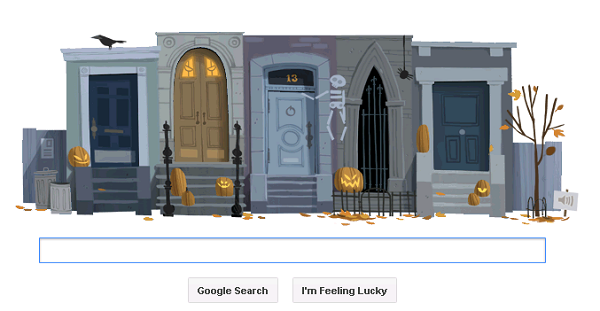 Google Halloween Home page 2012