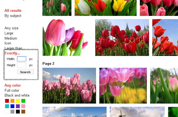 Google Image search Old - Exactly FEATURE