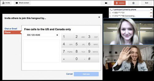 SEO News - Google Hangout Ups Users With Free Direct Dial in