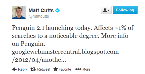 Matt Cutts on Penguin 2.1
