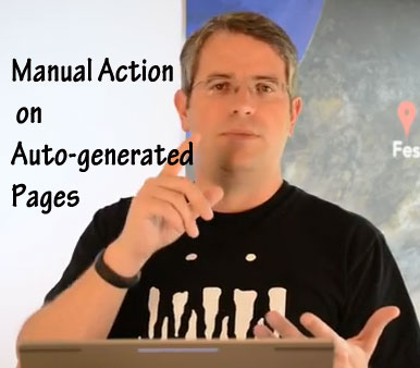 Manual Action on Auto-Generated Pages
