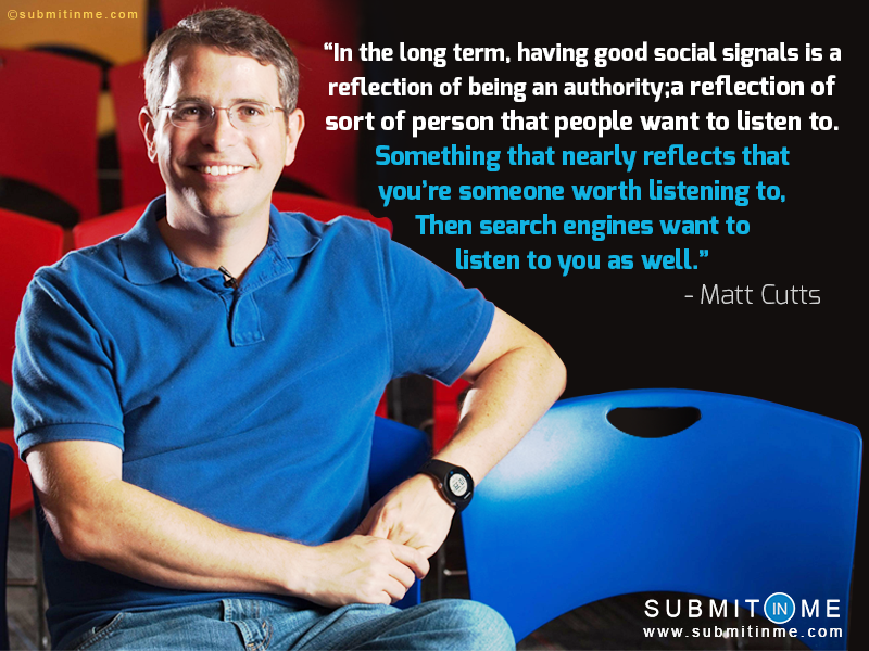Matt Cutts on Social signals