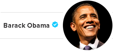 barack obama - top tweet