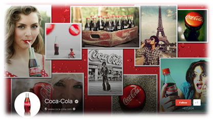 coca cola google plus cover image