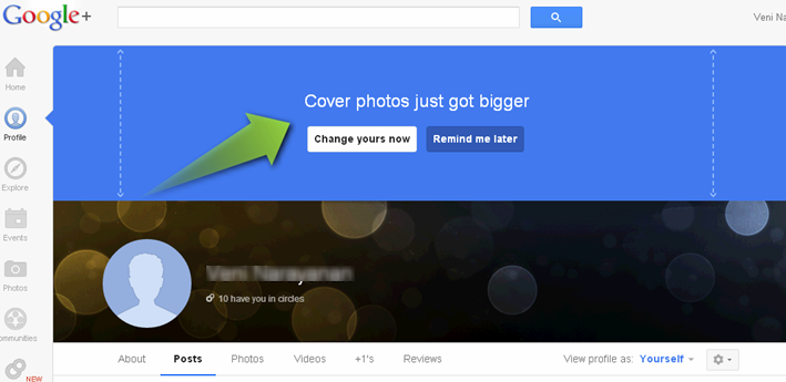 google plus cover page