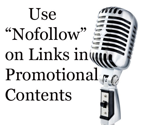 Usage of Nofollow on Links used in Press Releases