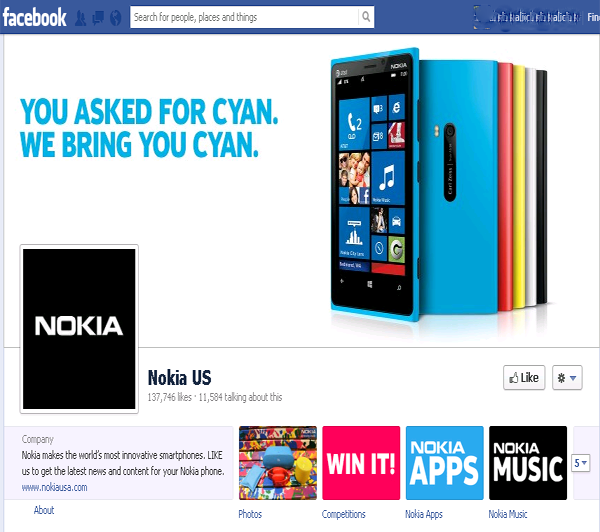 nokia us facebook page
